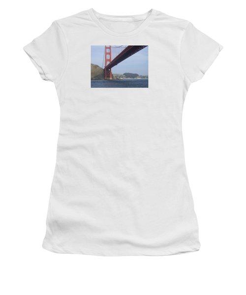 Under The Golden Gate - San Francisco Golden Gate Bridge 2006 - Scenic Photography - Ai P. Nilson Women's T-Shirt (Athletic Fit)