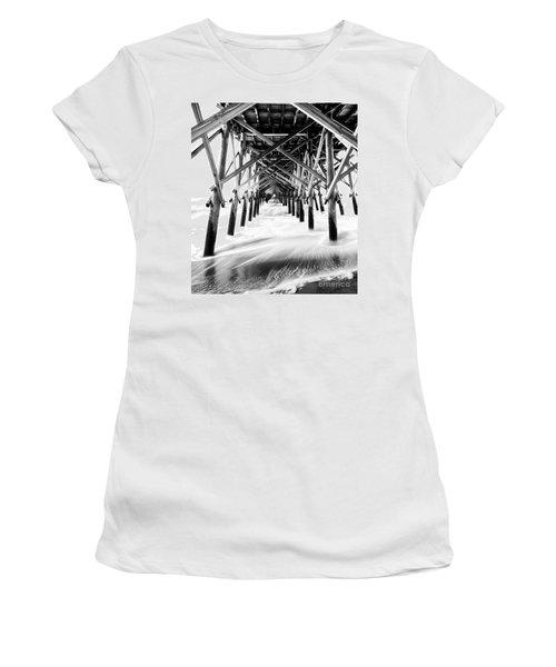 Under The Pier Folly Beach Women's T-Shirt