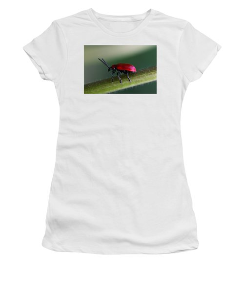 Women's T-Shirt (Junior Cut) featuring the photograph Under Way by Annie Snel