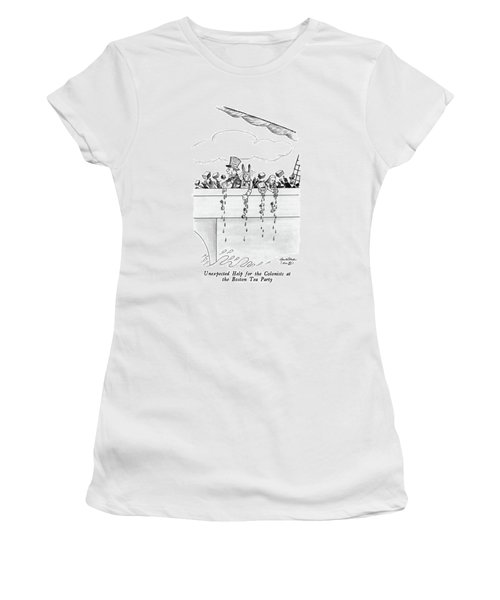 Unexpected Help For The Colonists At The Boston Women's T-Shirt