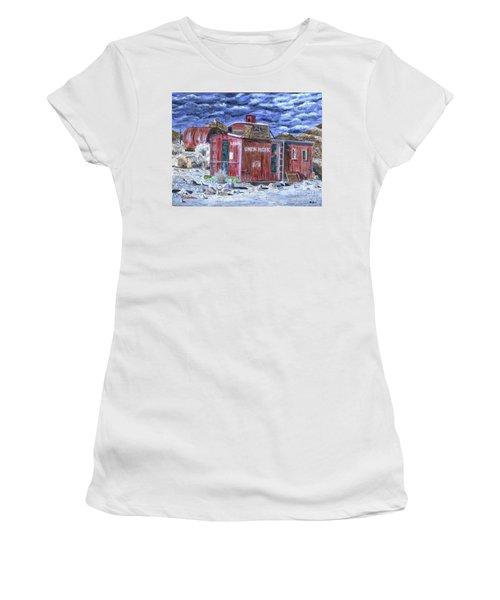 Union Pacific Train Car Painting Women's T-Shirt