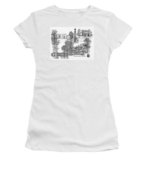 University Of Arkansas Women's T-Shirt (Junior Cut) by Liz  Bryant