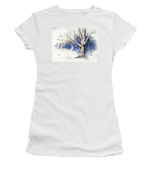 Untitled Winter Tree Women's T-Shirt (Athletic Fit)