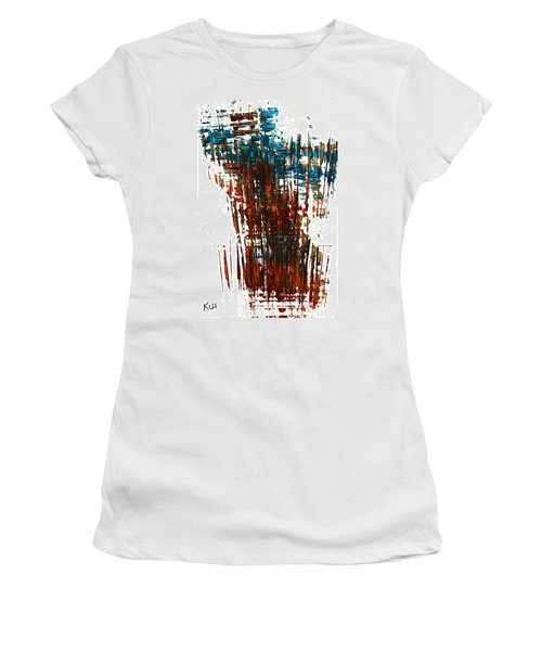 Women's T-Shirt (Junior Cut) featuring the painting Us In The Divine 264.111011 by Kris Haas