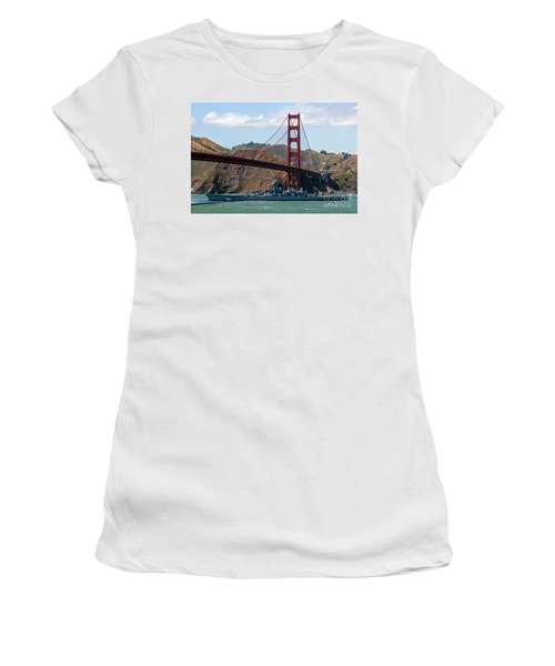 Women's T-Shirt featuring the photograph U.s.s. Iowa Up Close by Kate Brown