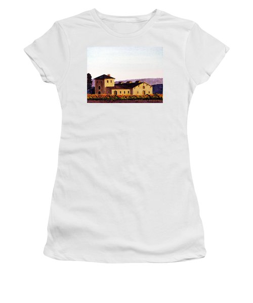 V. Sattui Winery Women's T-Shirt (Junior Cut) by Mike Robles