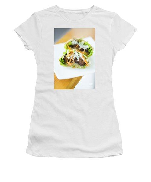 Vegetarian Falafel In Pita Bread Sandwich Women's T-Shirt (Athletic Fit)