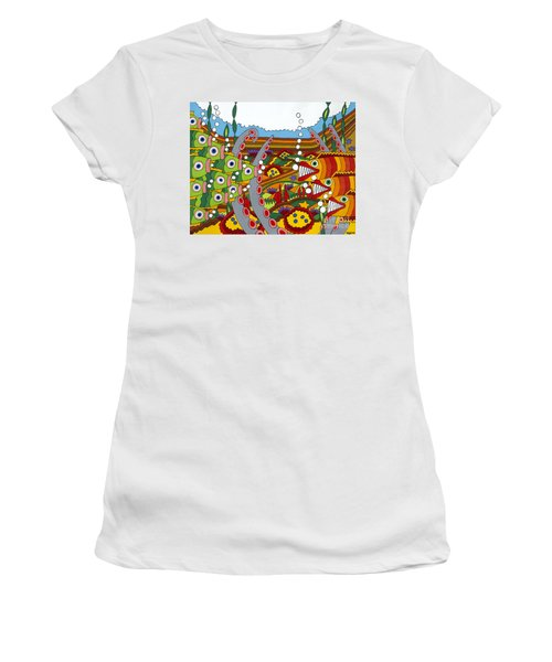 Vegetarians And Meat Eaters Women's T-Shirt (Junior Cut) by Rojax Art
