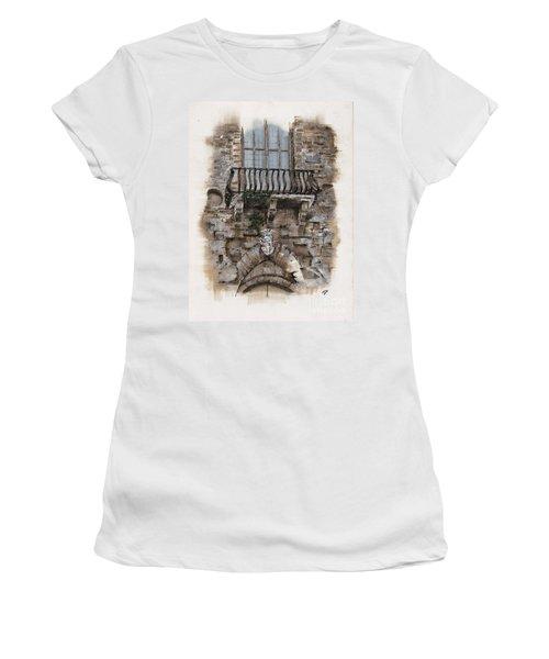 Venetian Balcony 02 Elena Yakubovich Women's T-Shirt (Athletic Fit)