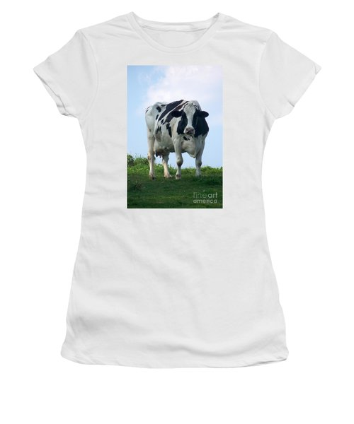 Vermont Dairy Cow Women's T-Shirt (Athletic Fit)