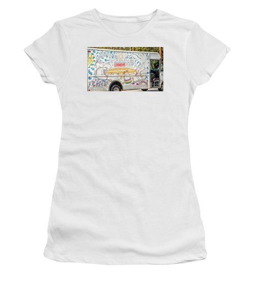 Vic And Nat'ly And The Leidenheimer Po-boy Truck - New Orleans Women's T-Shirt (Junior Cut) by Kathleen K Parker