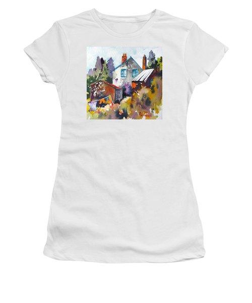 Village Life 1 Women's T-Shirt (Junior Cut) by Rae Andrews