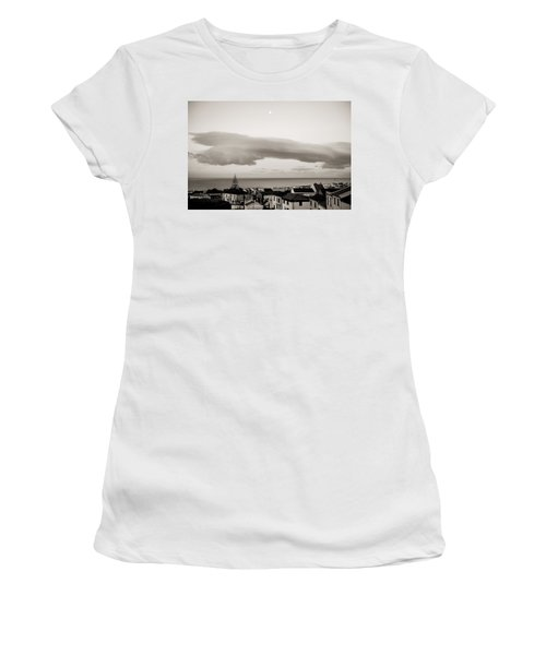 Village Rooftops At Sunrise Women's T-Shirt (Athletic Fit)