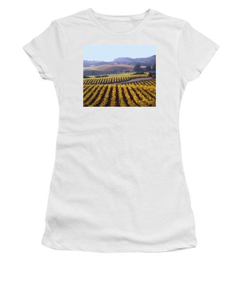 6b6386-vineyard In Autumn Women's T-Shirt