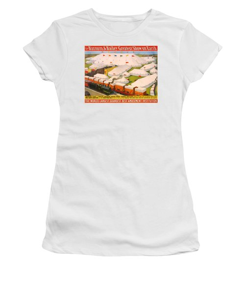 Vintage Barnum And Bailey Poster Women's T-Shirt