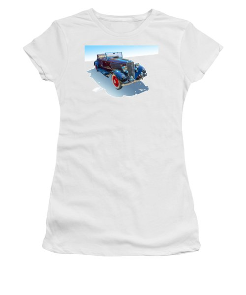 Women's T-Shirt (Junior Cut) featuring the photograph Vintage Convertible by Gianfranco Weiss