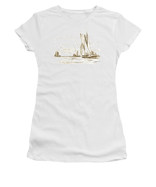 Vintage Oyster Schooners  Women's T-Shirt (Athletic Fit)
