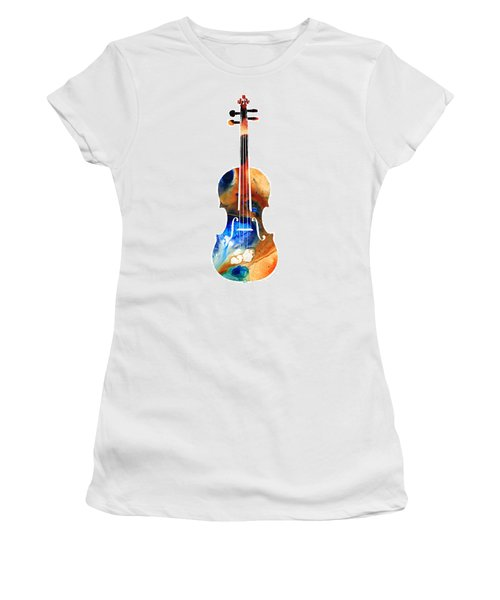 Violin Art By Sharon Cummings Women's T-Shirt (Athletic Fit)