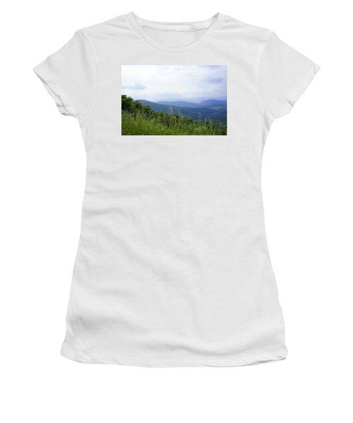 Women's T-Shirt (Junior Cut) featuring the photograph Virginia Mountains by Laurie Perry