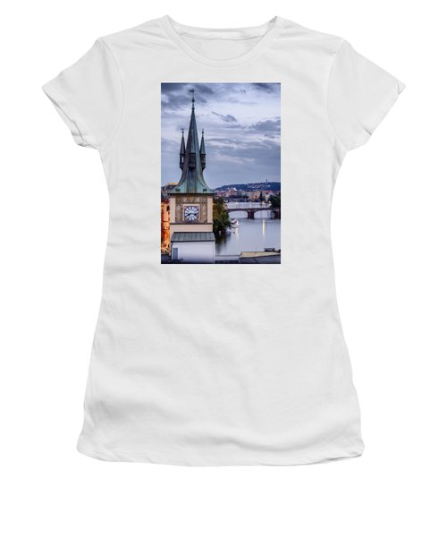 Vltava River In Prague Women's T-Shirt (Athletic Fit)