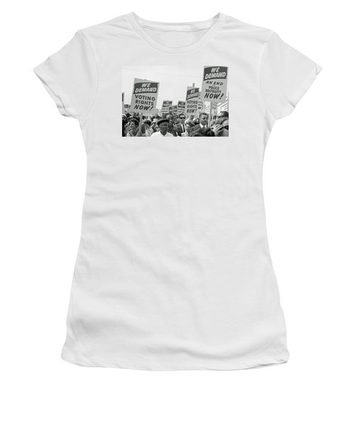 Voting Rights March In Washington Dc 1963 Women's T-Shirt
