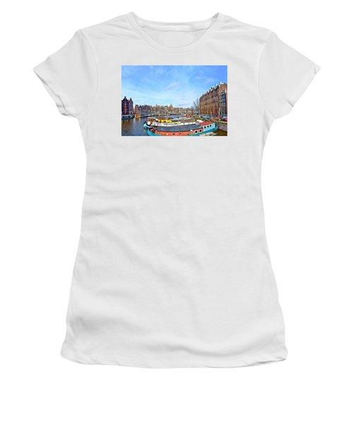 Waalseilandgracht Amsterdam Women's T-Shirt (Athletic Fit)