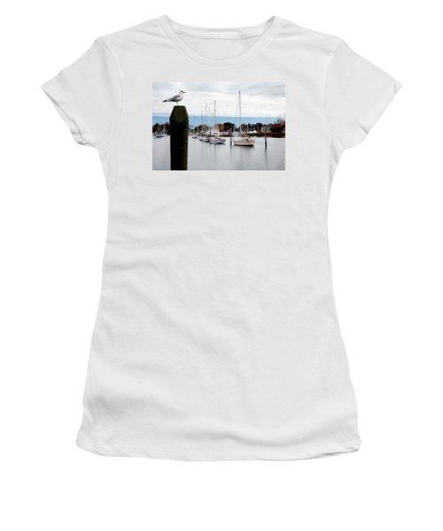 Waiting For Sandy Women's T-Shirt (Junior Cut) by Lon Casler Bixby
