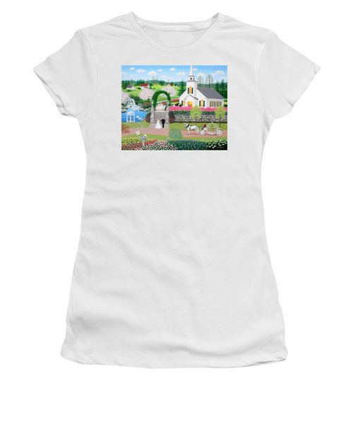 Walk With My Father Women's T-Shirt (Athletic Fit)