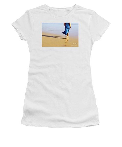 Walking On The Beach Women's T-Shirt