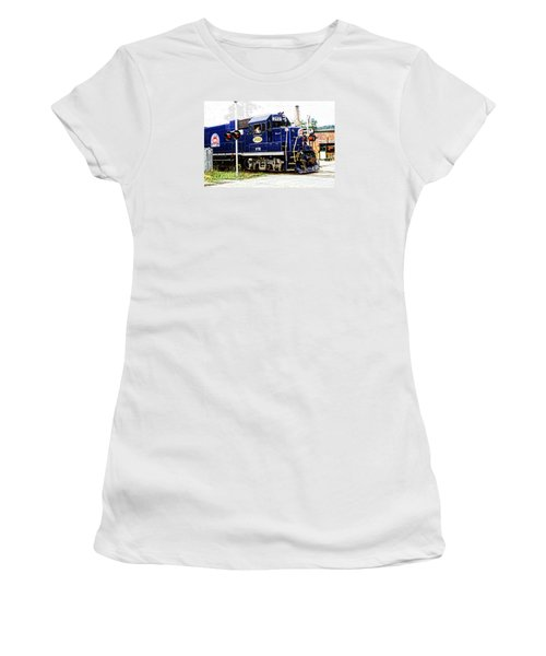 Women's T-Shirt (Junior Cut) featuring the photograph Washington County Railroad by Mike Martin