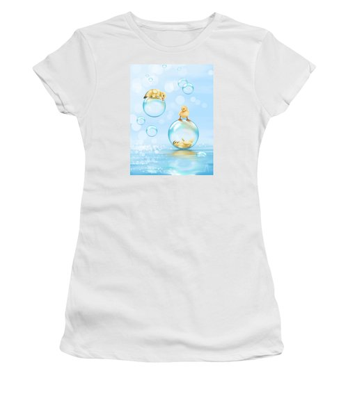 Water Games Women's T-Shirt (Junior Cut) by Veronica Minozzi