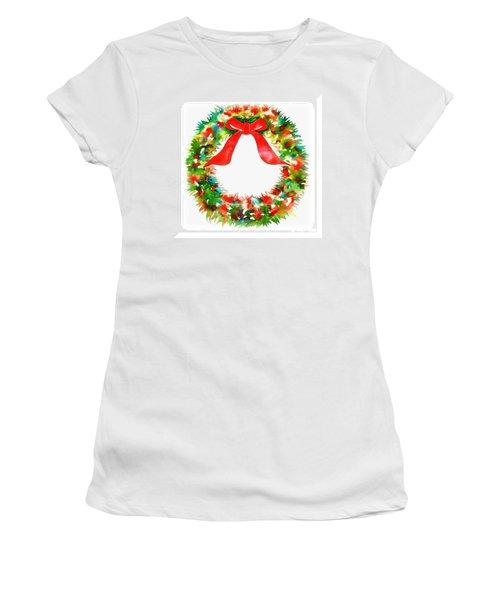 Watercolor Wreath Women's T-Shirt