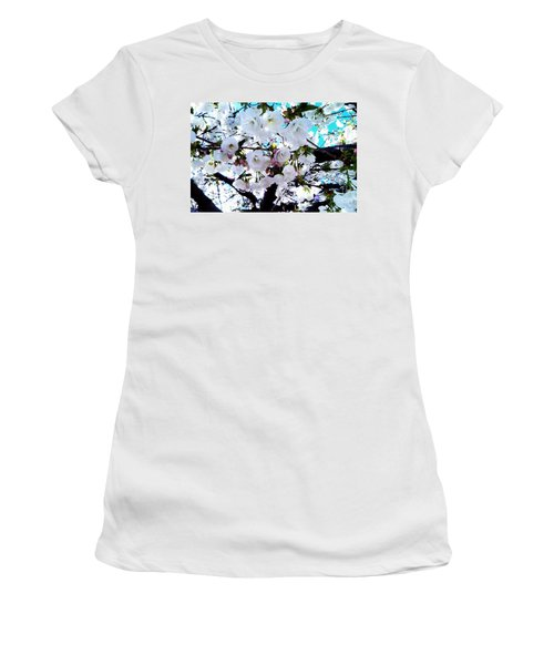 Women's T-Shirt (Junior Cut) featuring the photograph Blanche by Vanessa Palomino