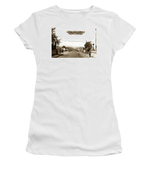 Watsonville California  The Apple City Circa 1926 Women's T-Shirt