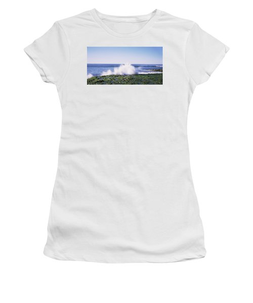 Waves Breaking The Coast, Natural Women's T-Shirt