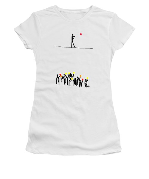 We Believe In Circles  Women's T-Shirt (Athletic Fit)