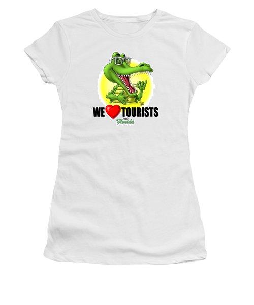 We Love Tourists Gator Women's T-Shirt
