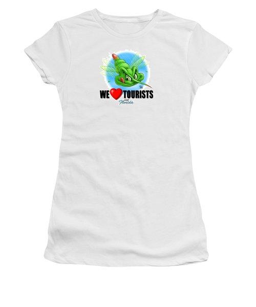 We Love Tourists Mosquito Women's T-Shirt