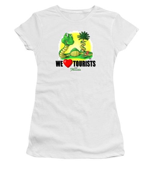 We Love Tourists Snake Women's T-Shirt
