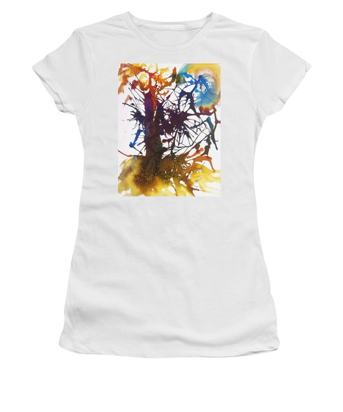 Web Of Life Women's T-Shirt (Junior Cut) by Ellen Levinson
