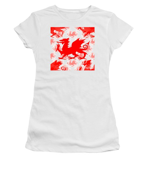 Welsh Dragon Women's T-Shirt (Athletic Fit)