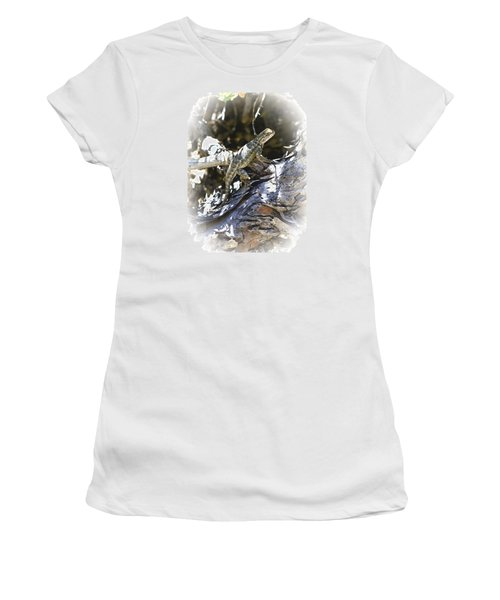 Western Fence Lizard Aka Blue-belly Lizard Women's T-Shirt (Athletic Fit)