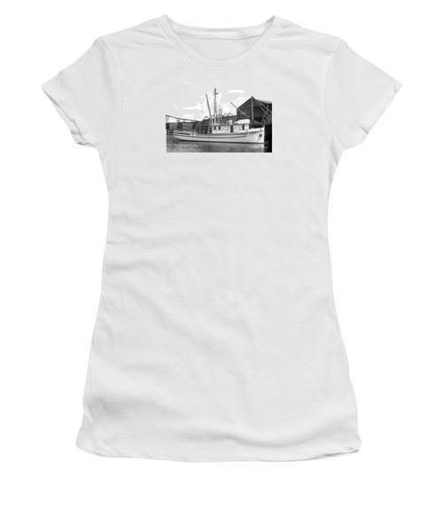 Western Flyer Purse Seiner Tacoma Washington State March 1937 Women's T-Shirt (Junior Cut) by California Views Mr Pat Hathaway Archives