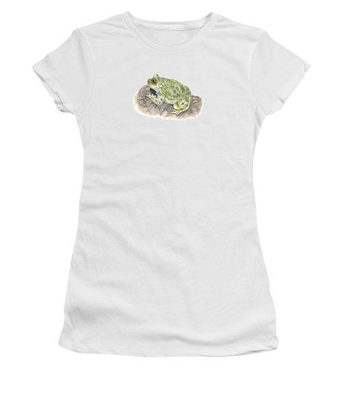 Western Spadefoot Women's T-Shirt (Junior Cut) by Cindy Hitchcock