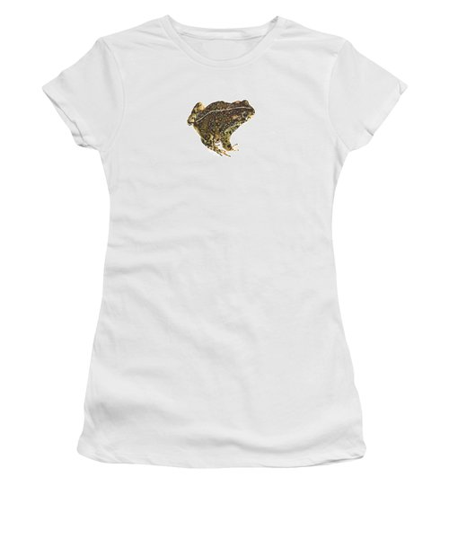 Western Toad Women's T-Shirt (Junior Cut) by Cindy Hitchcock