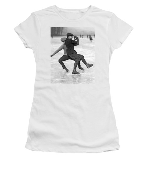 When Ice Skaters Collide Women's T-Shirt