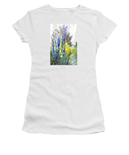 Where The Delphinium Blooms Women's T-Shirt (Athletic Fit)