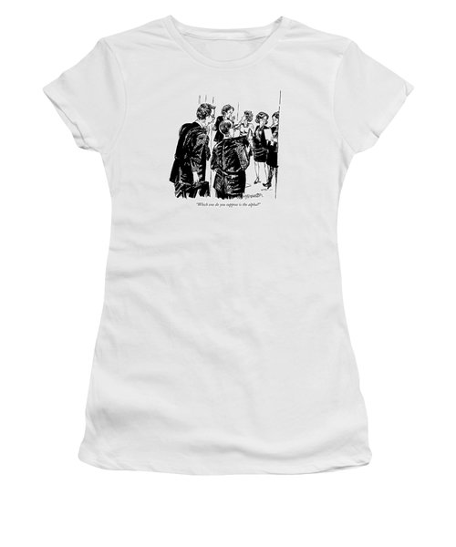 Which One Do You Suppose Is The Alpha? Women's T-Shirt