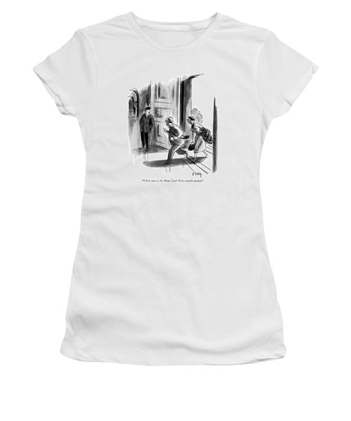 Which Way To The Mona Lisa? We're Double-parked Women's T-Shirt (Athletic Fit)