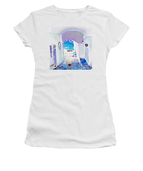 White And Blue 1 Women's T-Shirt